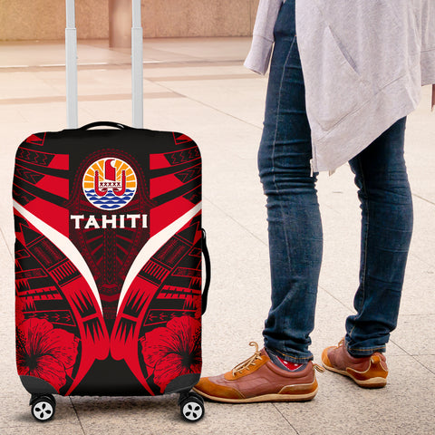Tahiti Tattoo Luggage Covers Hibiscus - Red Color 4
