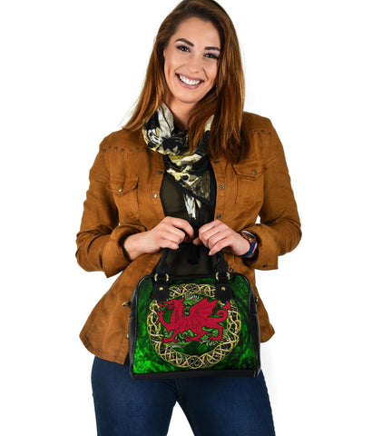 Wales Celtic Shoulder Handbag  - Cymru Celtic Tree