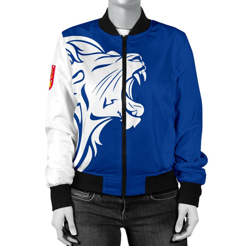 Image of The Lion In Finland Women's Bomber Jacket - BN12