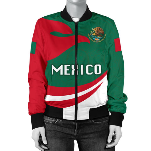 Image of Mexico Women Bomber Jacket Proud Version K4