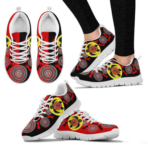 Australia Aboriginal Sneakers, Turtle Footprint Circle Dot Painting Ver 10
