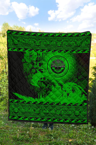 Federated States Of Micronesia Quilt Wave Green Design K62