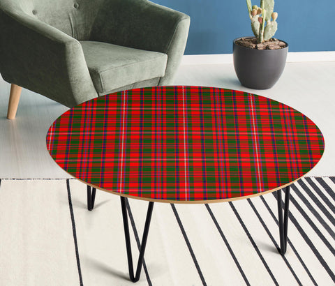 Image of MacKinnon Modern Tartan Circular Coffee Table - BN
