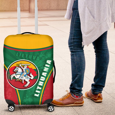 Lithuania - Lietuva Luggage Covers Circle Stripes Flag Proud Version K13