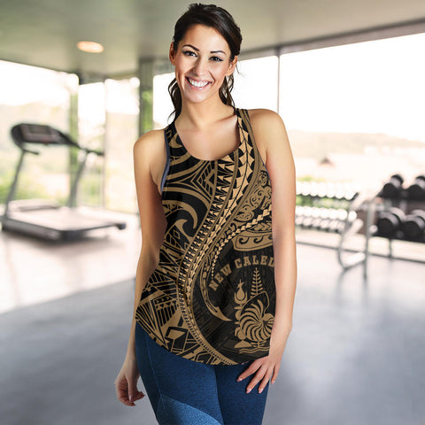 Image of New Caledonia Women's Racerback Tank Kanaloa Tatau Gen NC (Gold) TH65