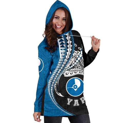 Yap Polynesian Women's Hoodie Dress Manta Polynesian TH65