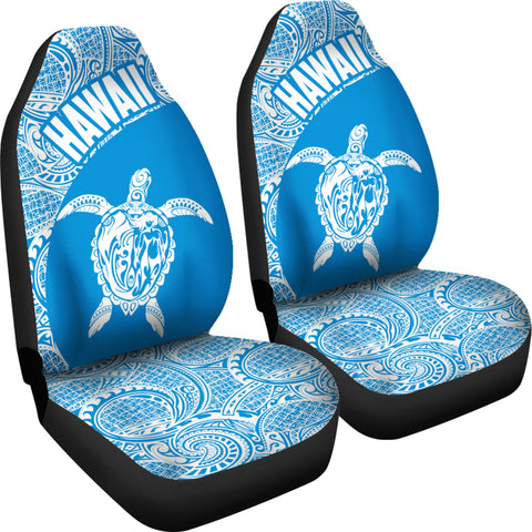 Hawaii Car Seat Covers Turtle Polynesian White Blue Version Th96