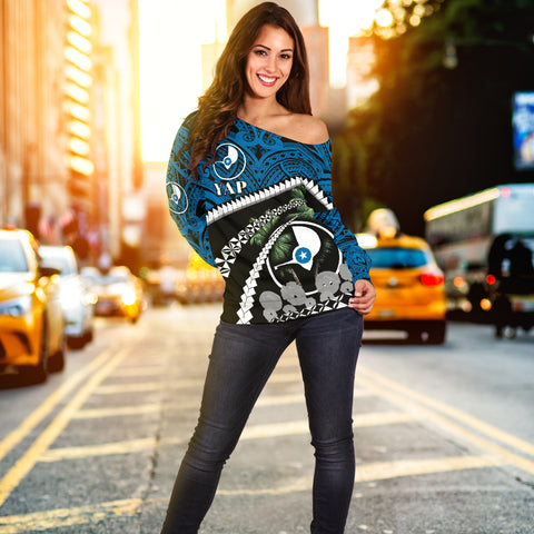 Image of Yap Women Off Shoulder Sweater - Road to Hometown K4