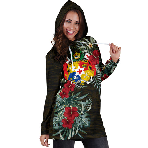 Image of Tonga Hibiscus Hoodie Dress A7
