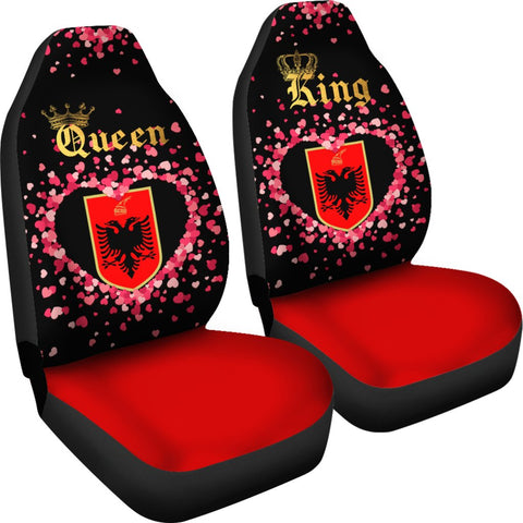 Image of Albania Car Seat Cover Couple King/Queen (Set of Two) | Valentine | 1sttheworld