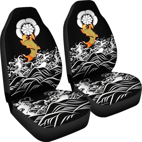 Image of The Golden Koi Fish Car Seat Covers A7