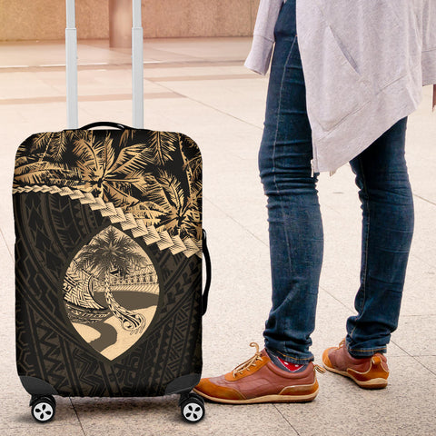 Guam 2 Luggage Covers Golden Coconut A02