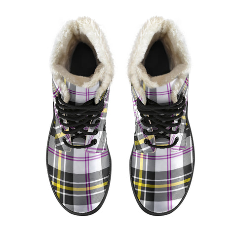 Macpherson Dress Modern Tartan Boots For Men