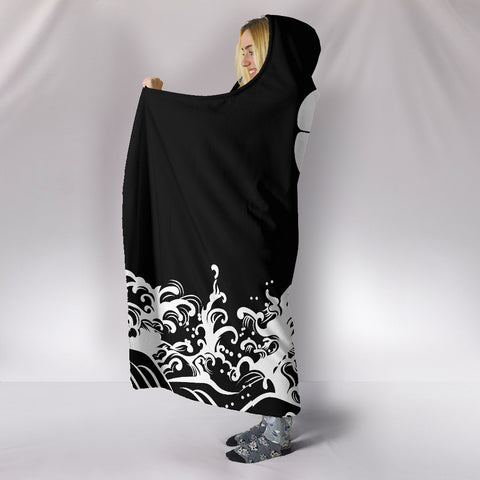 Image of The Golden Koi Fish Hooded Blanket A7