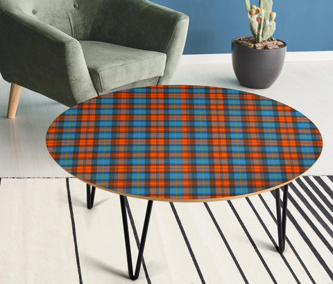 Image of MacLachlan Ancient Tartan Circular Coffee Table - BN