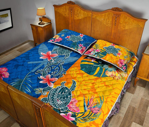 Hawaii Quilt Bed Set Polynesian Turtle Special K13