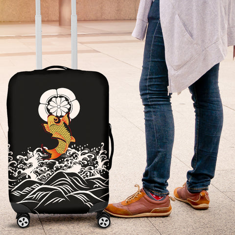 Image of The Golden Koi Fish Luggage Covers A7