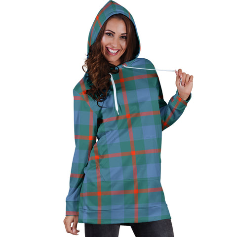 Image of Agnew Ancient Tartan Hoodie Dress HJ4 |Women's Clothing| 1sttheworld
