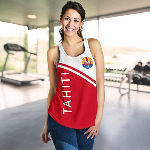 Image of Tahiti Women's Racerback Tank - Curve Version - BN04