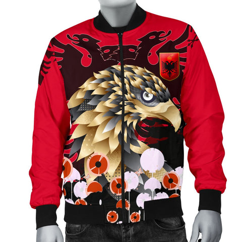 Albania Golden Eagle Men's Bomber Jacket - Happy Flag Day - BN21