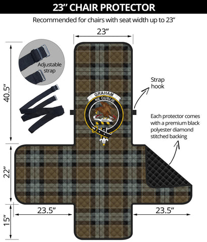 Graham of Menteith Weathered Tartan Clan Badge Sofa Protector K7