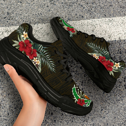 Pohnpei Hibiscus (Men/Women) Chunky Sneakers A7