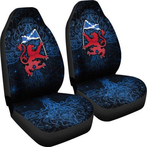 Scotland Celtic Car Seat Covers - Lion Rampant With Scotland Flag