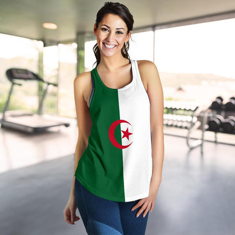 Image of Algeria Women's Racerback Tank Original Flag A7