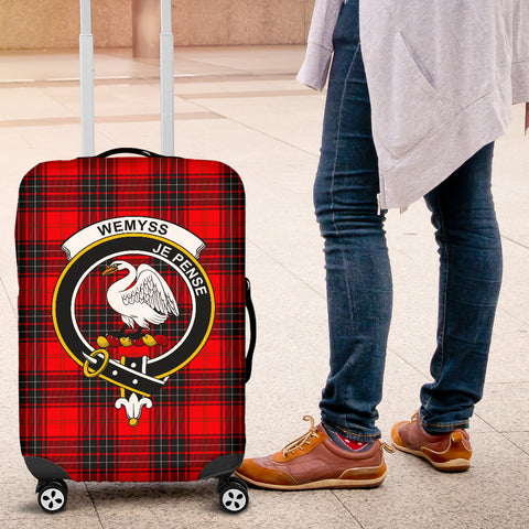 Image of Wemyss Tartan Clan Badge Luggage Cover Hj4 | Love The World
