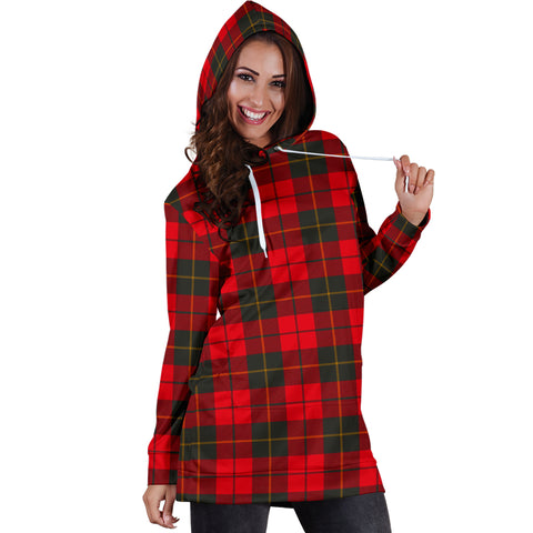 Wallace Weathered Tartan Hoodie Dress HJ4 |Women's Clothing| 1sttheworld