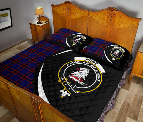 Home Modern Tartan Quilt Bed Set Circle HJ4