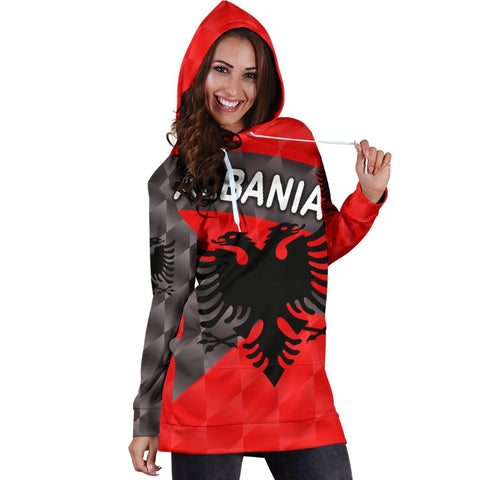 Image of Albania Women Hoodie Dress Sporty Style K8