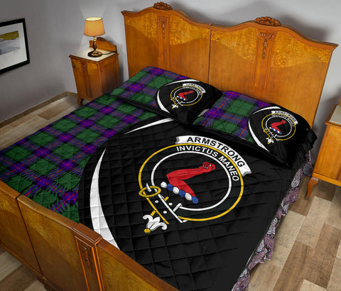 Image of Armstrong Modern Tartan Quilt Bed Set Circle HJ4
