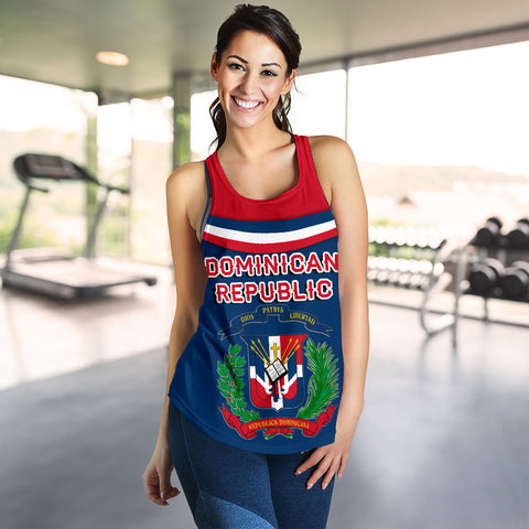 Image of Dominican Republic Women Racerback Tank - Vibes Version K8