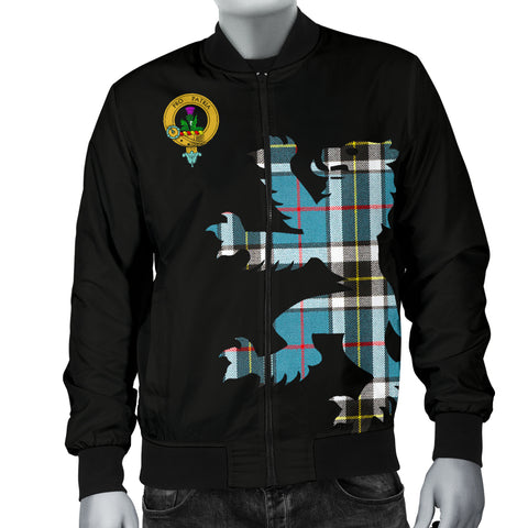 Thomson Tartan Lion And Thistle Bomber Jacket For Men Th8