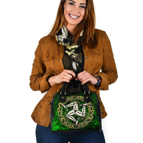 Celtic Shoulder Handbag - Isle of Man With Celtic Patterns Ver 02