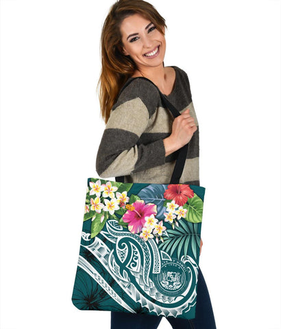 Image of Polynesian Hawaii Tote Bags - Summer Plumeria