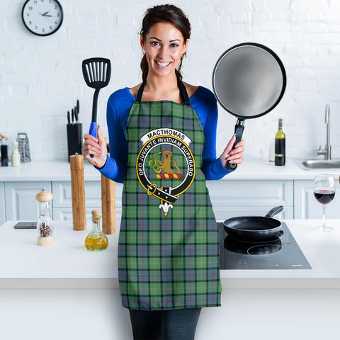 Image of MacThomas Ancient Tartan Clan Crest Apron HJ4