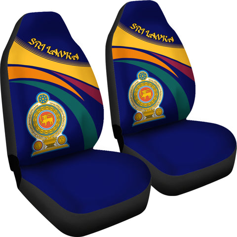 Image of 1sttheworld Sri Lanka Lion Coat Of Arms Car Seat Covers - J5
