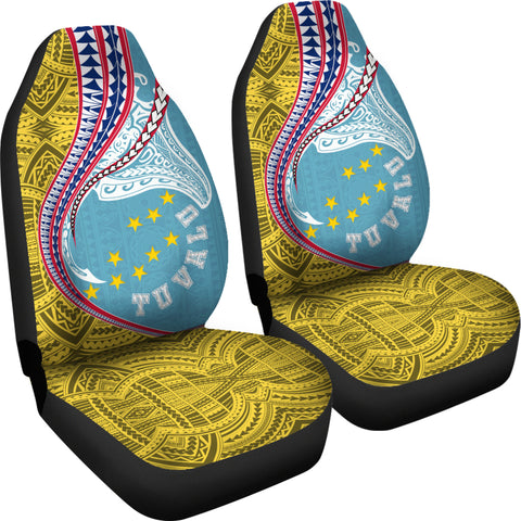 Image of Tuvalu Car Seat Covers Manta Polynesian TH65