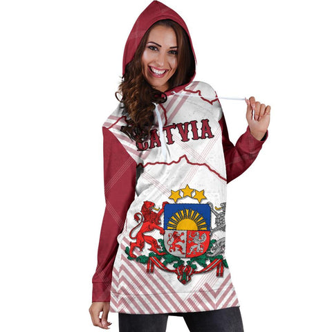 Latvia Hoodie Dress K5