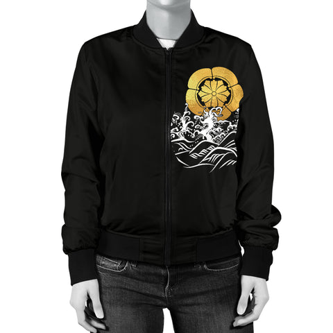 Image of The Golden Koi Fish Women's Bomber Jacket A7