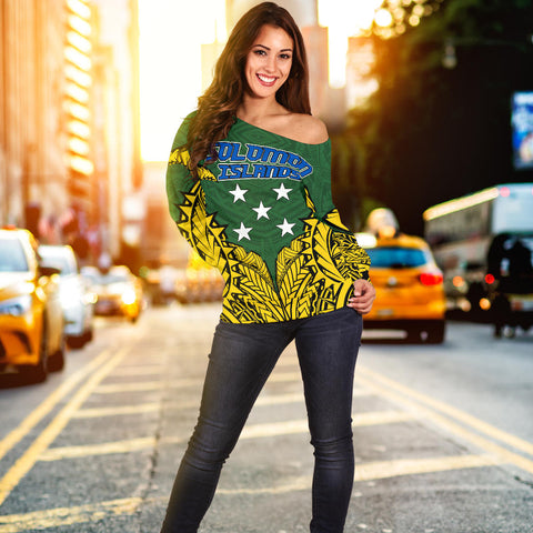 Image of Solomon Islands Premium Off Shoulder Sweater A7