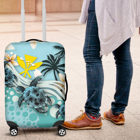 Hawaii Turtle Luggage Cover, Kanaka Maoli Suitcase Covers A24