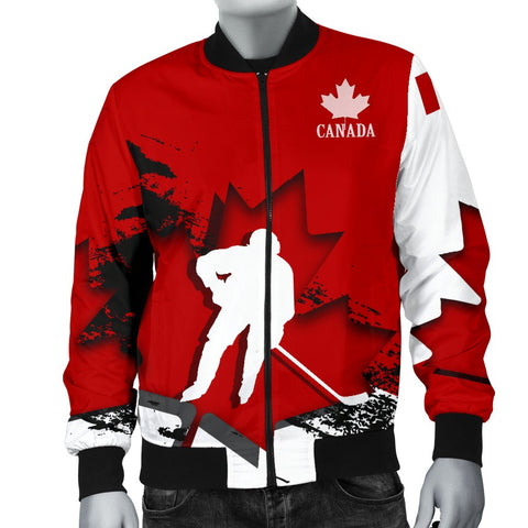 Canada Bomber Jacket - Maple Leaf Hockey (Men) A02