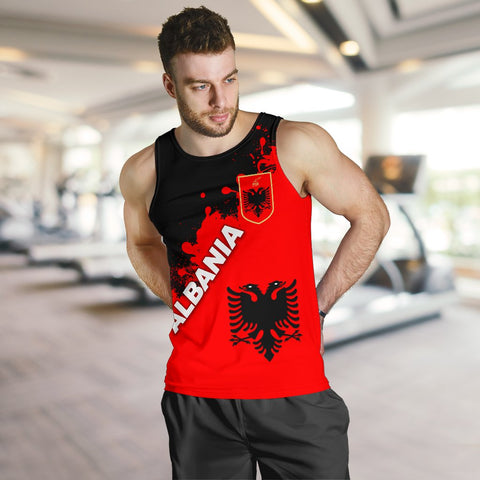 Albania Men Tank Top Red Braved Version K12