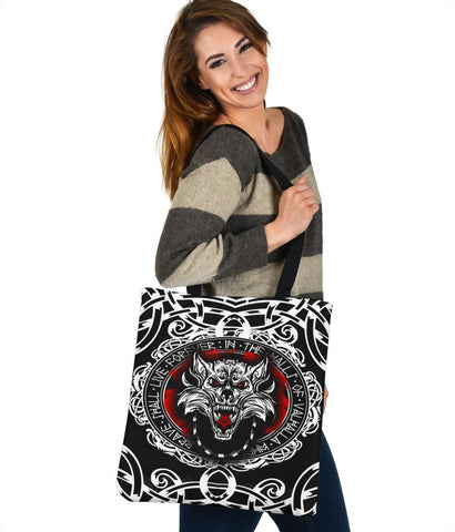 Image of Viking Fenrir Wolf Tote Bag A31