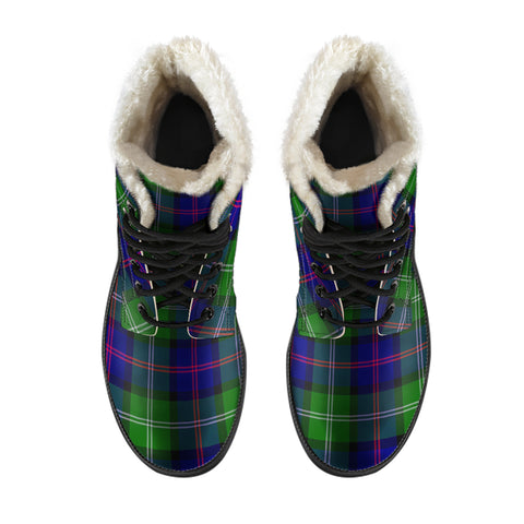 Image of Macthomas Modern Tartan Boots For Men