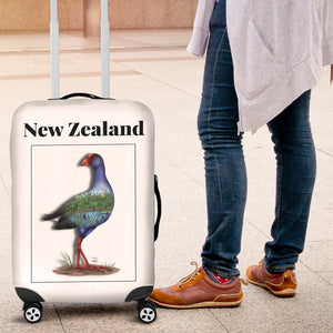 New Zealand Pukeko Luggagge Cover - new zealand birds, new zealand pukeko, luggage cover, suitcase covers, accessories, online shopping