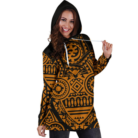 Africa Hoodie Dress - African Heritage Nyame Ye Ohene | 1sttheworld | African Shop